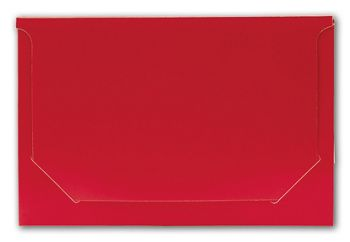 Solid Red Pop-Up Gift Card Folders, 5 x 3 3/8 x 1/8