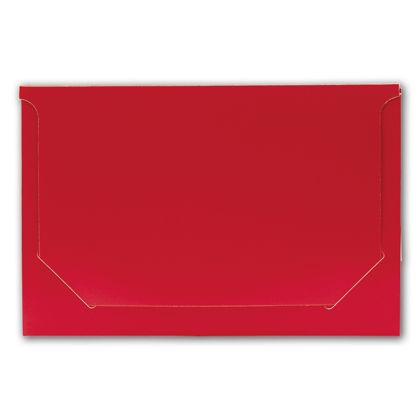 Solid Red Pop-Up Gift Card Folders, 5 x 3 3/8 x 1/8""