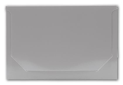 Solid Silver Pop-Up Gift Card Folders, 5 x 3 3/8 x 1/8""