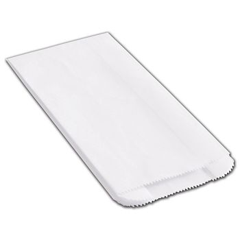 White Pharmacy Bags, 5 x 2 1/2 x 10 1/4