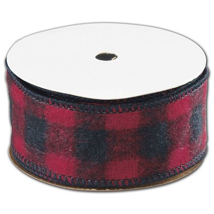 "Buffalo Plaid Ribbon, 1 1/2"" x 25 Yds"