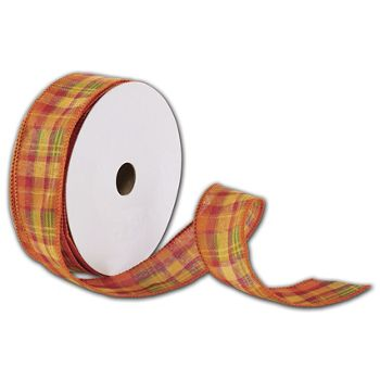 Harvest Plaid Ribbon, 1 1/2