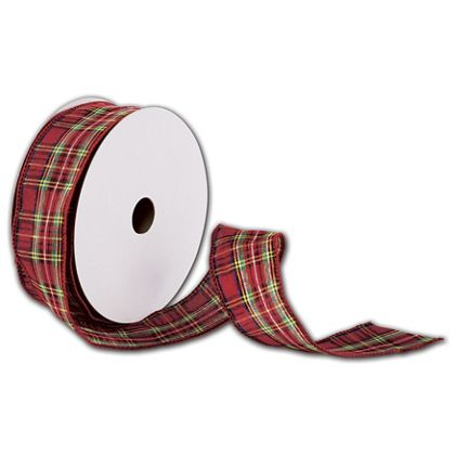 "Tartan Plaid Ribbon, 1 1/2"" x 50 Yds"
