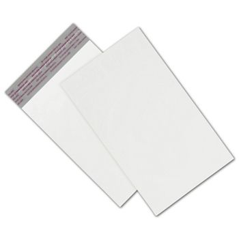 White Unprinted Poly Mailers, 6 x 9