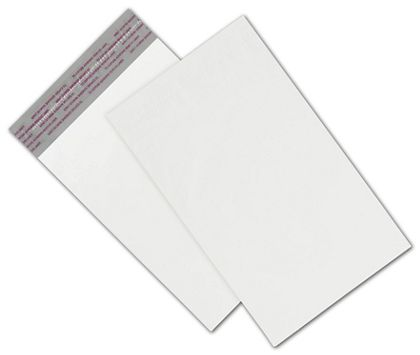 "White Unprinted Poly Mailers, 6 x 9"" + 2"" Flap"
