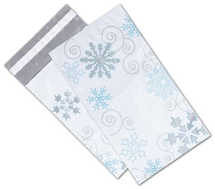 "Winter Wonderland Poly Mailers, 6 x 9"" + 2"" Flap"