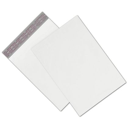 "White Unprinted Poly Mailers, 9 x 12"" + 2"" Flap"