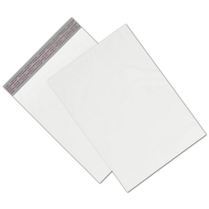 """White Unprinted Poly Mailers, 10 x 13"""" + 2"""" Flap"""
