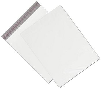 White Unprinted Poly Mailers, 12 x 15 1/2