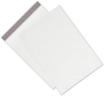 White Unprinted Poly Mailers, 14 1/2 x 19