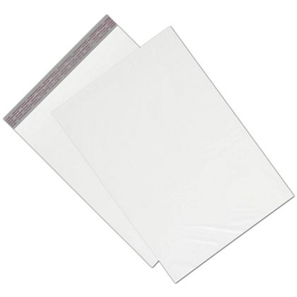 "White Unprinted Poly Mailers, 14 1/2 x 19"" + 2"" Flap"