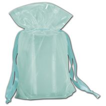 "Ocean Blue Opaque Poly Pouches, 12 x 4 x 16"""