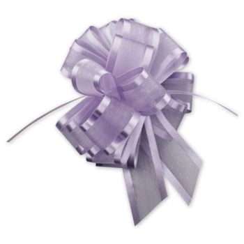Lavender Sheer Satin Edge Pull Bows, 18 Loops, 1 1/2