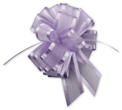 "Lavender Sheer Satin Edge Pull Bows, 18 Loops, 1 1/2"""
