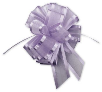 Lavender Sheer Satin Edge Pull Bows, 18 Loops, 5/8