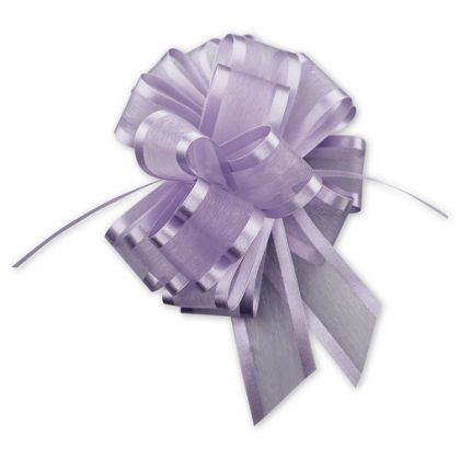 "Lavender Sheer Satin Edge Pull Bows, 18 Loops, 5/8"" Width"