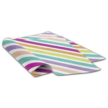 "Neon Stripe Tissue Paper, 20 x 30"""