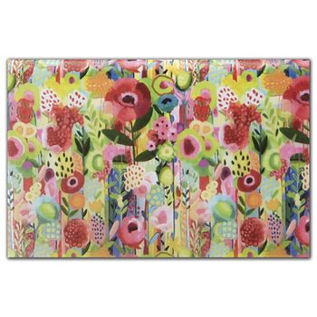 Floral Collage Tissue Paper, 20 x 30