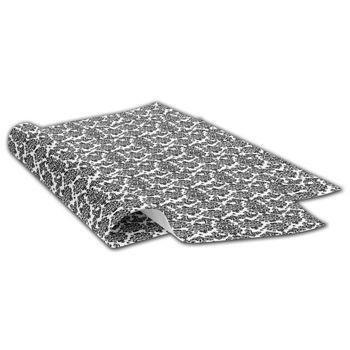 Black Damask Tissue Paper, 20 x 30