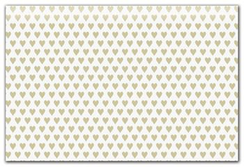 Golden Hearts Tissue Paper, 20 x 30