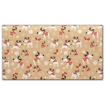 Reindeer Hop Tissue Paper, 20 x 30