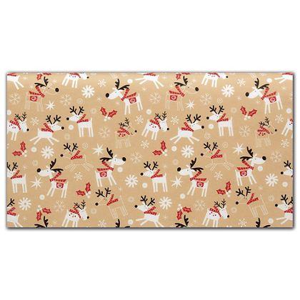"Reindeer Hop Tissue Paper, 20 x 30"""
