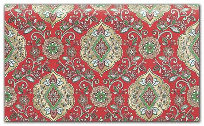 """Christmas Tapestry Red Tissue Paper, 20 x 30"""""""