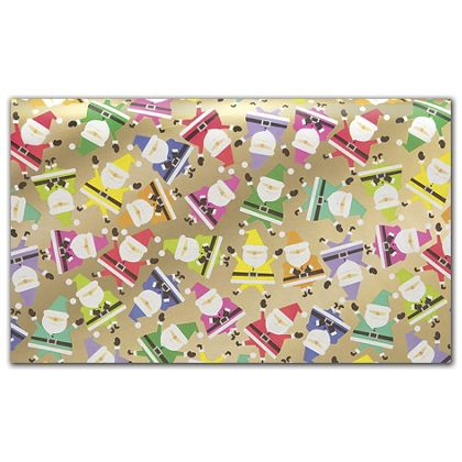 "Rainbow Santa Tissue Paper, 20 x 30"""