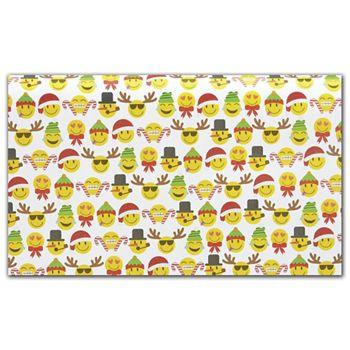 Emoji Christmas Tissue Paper, 20 x 30