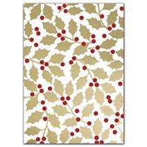 """Elegant Holly Tissue Paper, 20 x 30"""""""
