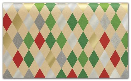 """Holiday Harlequin Tissue Paper, 20 x 30"""""""