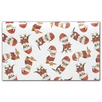 Kitty Christmas Tissue Paper, 20 x 30""