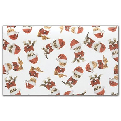 "Kitty Christmas Tissue Paper, 20 x 30"""