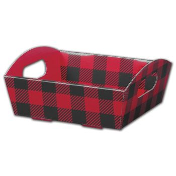 Buffalo Plaid Presentation Tray Boxes, 8 1/4x7 1/2x2 1/2