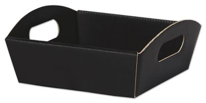 "Black Presentation Tray Boxes, 8 1/4 x 7 1/2 x 2 1/2"""