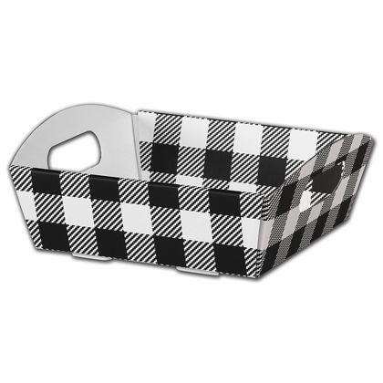 Black & White Plaid Presentation Tray Boxes, Small