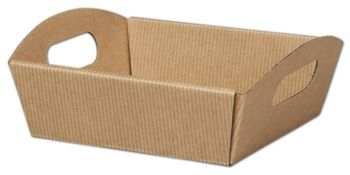 Kraft Stripes Presentation Tray Boxes, 8 1/4x7 1/2x2 1/2