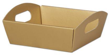 """Metallic Gold Presentation Tray Boxes, 8 1/4x7 1/2x2 1/2"""""""