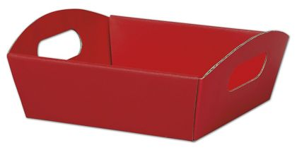 """Red Presentation Tray Boxes, 8 1/4 x 7 1/2 x 2 1/2"""""""