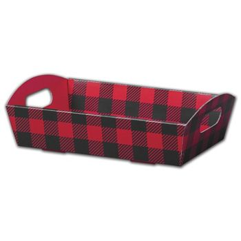 Buffalo Plaid Presentation Tray Boxes, 11 1/4x7 1/2x2 1/2