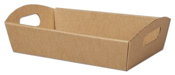 Kraft Stripes Presentation Tray Boxes, 11 1/4x7 1/2x2 1/2