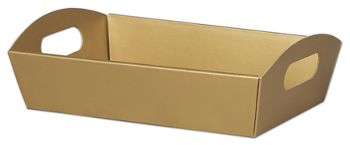 Metallic Gold Presentation Tray Boxes, 11 1/4x7 1/2x2 1/2