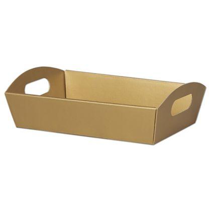 """Metallic Gold Presentation Tray Boxes, 11 1/4x7 1/2x2 1/2"""""""