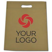 "Printed Sand Non-Woven Tuff Seal Merchandise Bags, 10x12"""