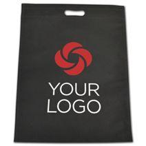 Printed Black Non-Woven Tuff Seal Merchandise Bags