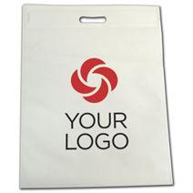 Printed White Non-Woven Tuff Seal Merchandise Bags