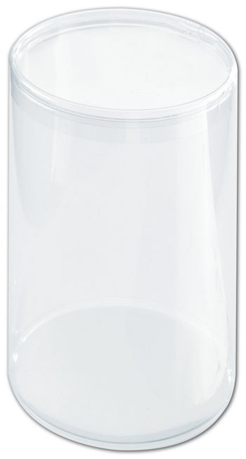 Clear Boxes, Round with Lid, 3 1/2 x 5 1/2