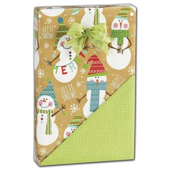 Let it Snow Reversible Gift Wrap, 24