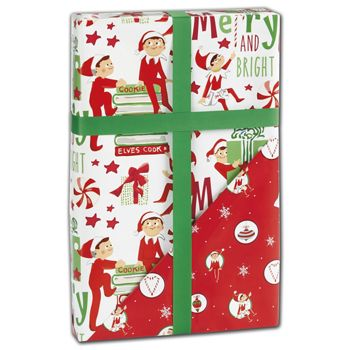 Elf on the Shelf Reversible Gift Wrap, 24