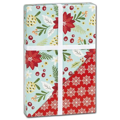 """Trendy Floral Reversible Gift Wrap, 24"""" x 417'"""